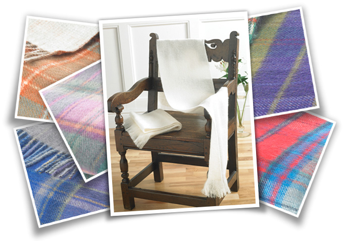 Plain Dyed Mohair & Reversible Throws
